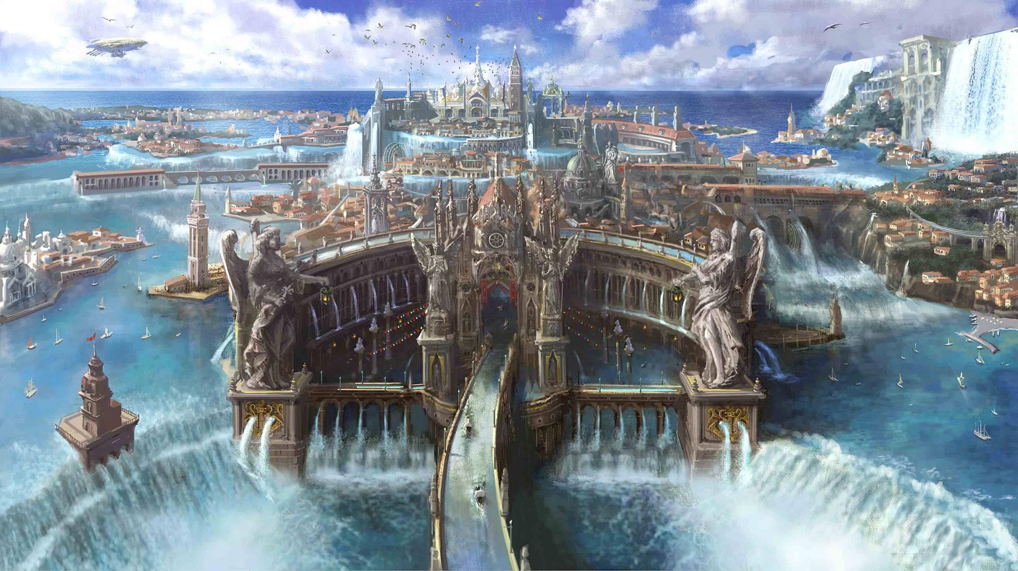 Die zauberhaften umgebungen von final fantasy xv im video for Final fantasy 8 architecture